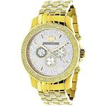 Yellow Gold Tone Watches: Luxurman Mens  91130 1