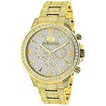 Iced Out Mens Diamond Watch 3Ct Yellow Gold Plated