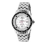 Centorum Falcon Real Diamond Watch 0.5ct Midsize Mens Model White MOP Leather 1