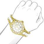 Luxurman Ladies Real Diamond Ceramic Watch 1.25ct White MOP Galaxy Yellow Gold 3