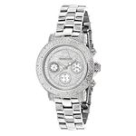 Iced Diamond Watches 0.3ct Luxurman Diamond Watch For Women White Gold Plated 1