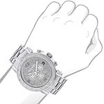 Oversized Mens Diamond Watch 0.25Ct LUXURMAN Esc-3
