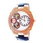 45 Mm Round 20 Diamonds Automatic Rose Gold Watch