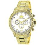 Iced Out Mens Watch With Diamond Band 1.25Ctw Of D