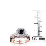 10K White Black 1.2 Ctw Diamonds Unique Bridal E-3