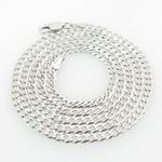 Mens White-Gold Cuban Link Chain Length - 22 inches Width - 3mm 1