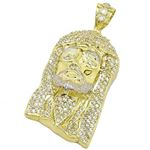 Mens 10k Yellow Gold Iced Out Jesus Pend 77651 1