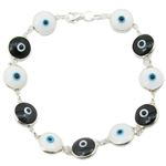 Womens Sterling silver White and black e 84592 1