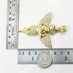 Mens 10k Yellow Gold Praying Angel Cherub Pendant 3
