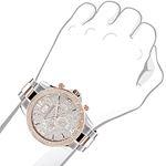 Luxurman Mens Real Diamond Watch Two-Ton 90402 3