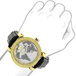 LUXURMAN Watches Worldface Mens VS Diamond Watch-3