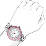 Luxurman Womens Real Diamond Pink Watch  90692 3