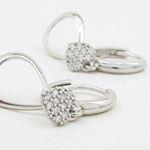 Womens Heart and teardrop chandelier earring Silver5 3