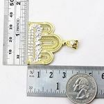 Mens 10k Yellow Gold Last supper with stones Pendant 3