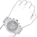 Mens Luxurman Iced Out Large Real Diamon 89784 3