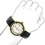 18K Gold Plated Watch With Diamonds 0.5Ct Midsiz-3