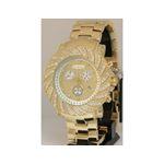 Joe Rodeo Watches: Mens Junior Diamond Watch 4.25 Yellow Gold 1