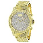 Iced Out Mens Diamond LUXURMAN Watch 1.25Ct Yellow