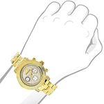 Luxurman Ladies Diamond Watch 0.3ct Yellow Gold Plated Interchangeable Straps 3