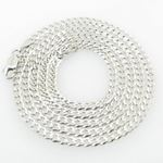 Mens White-Gold Cuban Link Chain Length - 24 inches Width - 3mm 1