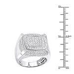 Mens Pinky Ring 10K Gold Diamond Ring 1.8Ctw (Wh-3