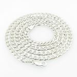 Mens White-Gold Cuban Link Chain Length - 22 inches Width - 4mm 1