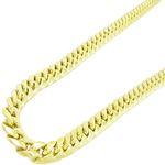 """Mens 10k Yellow gold Yellow gold miami cuban hollow link chain 24"""" 7.5MM rjmch8 1"""