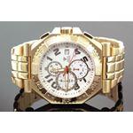 Mens Swiss Made Sports Diamond Watch 0.12Ctw-