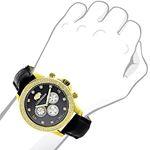 Mens Diamond Watch 0.2Ctw Black MOP Liberty 18K-3