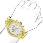 Iced Out LUXURMAN Mens Diamond Watch 1.25Ct Yell-3