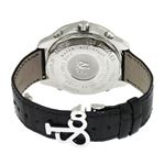 Jacob Co. Black Leather Band Fivetime Zone 4.5Ct-3
