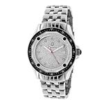 Centorum Mens Real Diamond Watch 0.5ct Midsize Falcon Stainless Steel Band 1