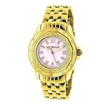 Luxurman Yellow Gold Plated Ladies Real  91125 1