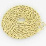 10K Yellow Gold rope chain GC13 1