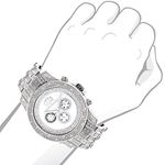 Luxurman Genuine Diamond Watch 1.25ct Wh 90452 3