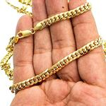 14K Yellow Gold SOLID Miami Cuban Link Chain 6.7-3