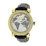 LUXURMAN Watches Worldface Mens VS Diamond Watch .