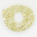 10K Yellow Gold figaro open link chain GC89 1