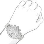 Ladies Large Iced Out Diamond Watch 1.5Ctw By Mo-3