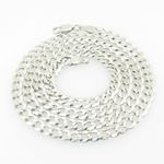 Mens White-Gold Cuban Link Chain Length - 20 inches Width - 4.5mm 1