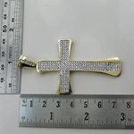 10K Yellow Gold unisex cross ASVJ66 3