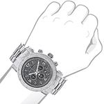 Oversized Diamond Watches: Luxurman Mens 90978 3