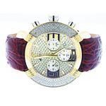 45Mm Round 20 Diamonds Yellow Gold Case Watch