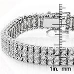 10K 3-Row Prong Set Natural Diamond Bracelet For-3
