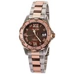 Women 13025 Pro Diver Brown Dial Quartz 3H Rose Wa
