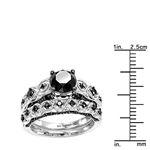 Black Diamond Sterling Silver Antique Engagement-3