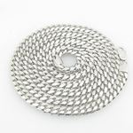 Mens .925 Italian Sterling Silver Cuban Link Chain Length - 30 inches Width - 6mm 1