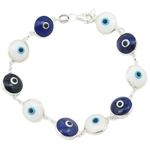 Womens Sterling silver White and blue ev 84603 1