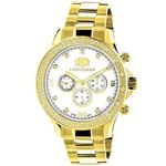 LUXURMAN Diamond Watches For Men 0.2Ct Yellow Gold
