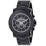 Oversized Iced Out Black Diamond Mens Watch By 2Ct